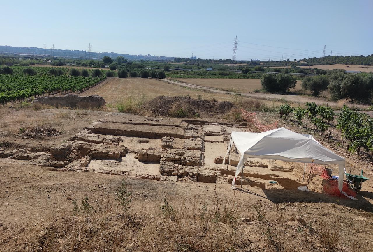 Treballs d'excavació arqueològica a Mas dels Frares, 2021   cedida