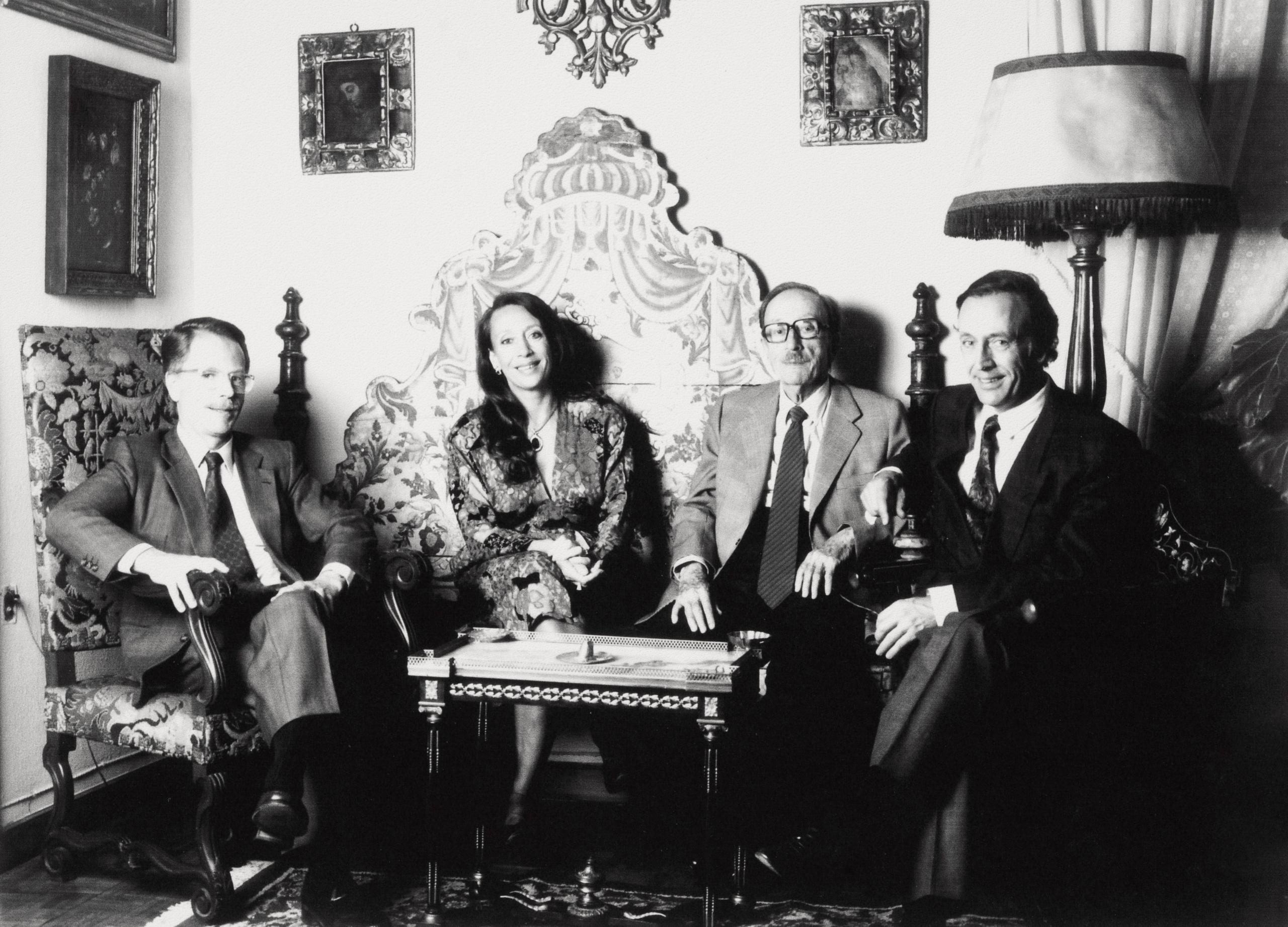 D'esquerra a dreta Juan María Torres Riera, Marimar Torres Riera, Miguel Torres Carbó i Miguel A. Torres Riera   Família Torres